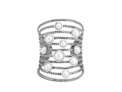 Cropped product listing classic chain cuff with mabe freshwater pearl