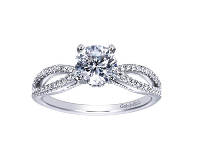 Cropped product listing 14k white gold round split shank diamond engagement ring