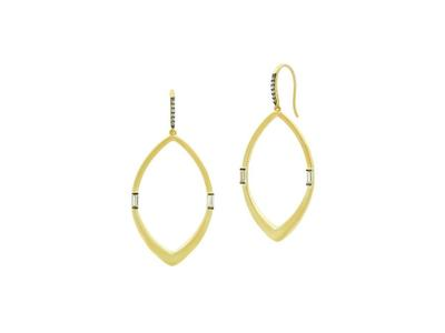 Cropped product listing open hoop earring