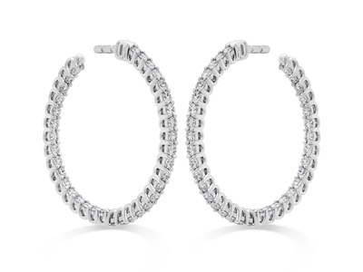 Cropped product listing inside out diamond hoops
