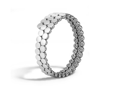 Cropped product listing dot double coil bracelet