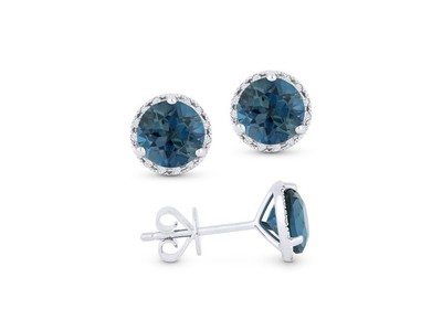 Cropped product listing london blue topaz earrings