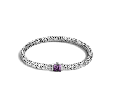 Cropped product listing classic chain bracelet with amethyst