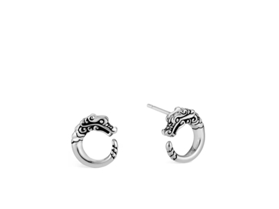 Cropped product listing naga stud earrings