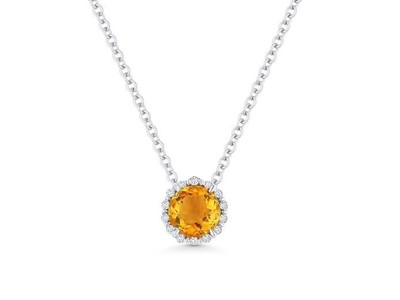 Cropped product listing citrine diamond necklace