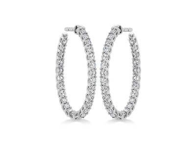 Cropped product listing signature diamond oval hoops