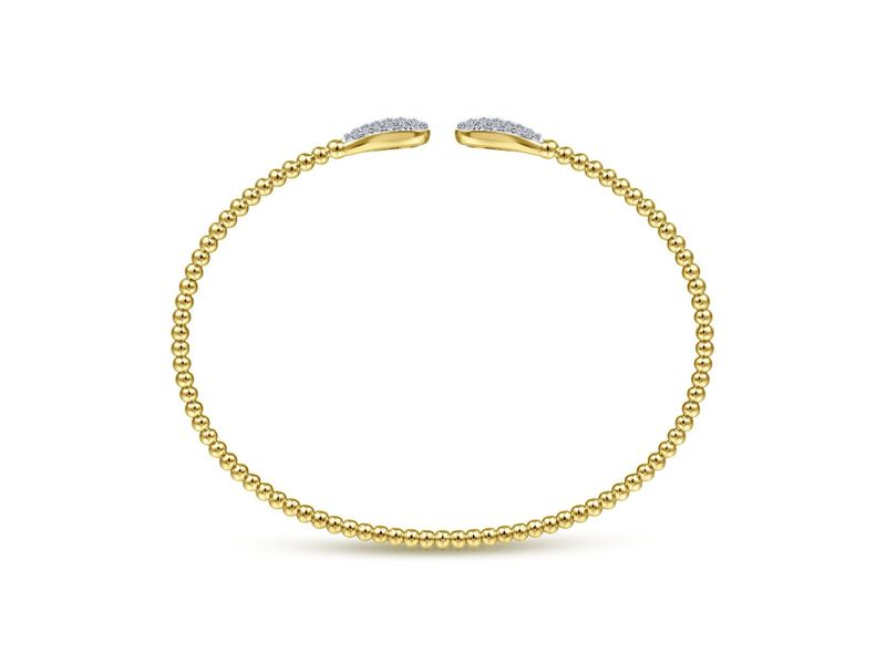Cropped product page bujukan bead cuff bracelet with diamond pave teardrops