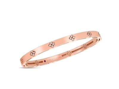 Cropped product listing love in verona rose gold diamond bangle