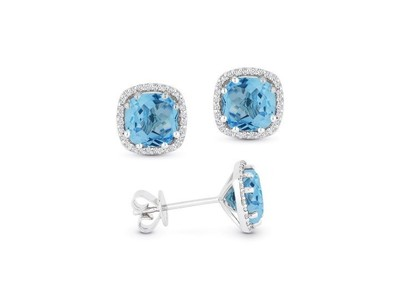 Cropped product listing london blue lopaz and diamond stud earrings