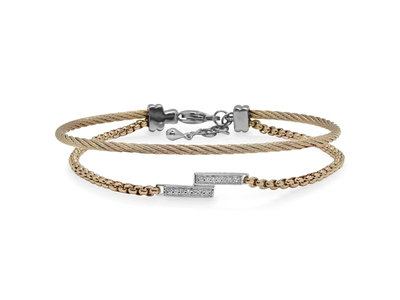 Cropped product listing intermix bracelet with diamonds