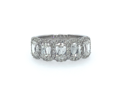 Cropped product listing 5 stone cushion cut band