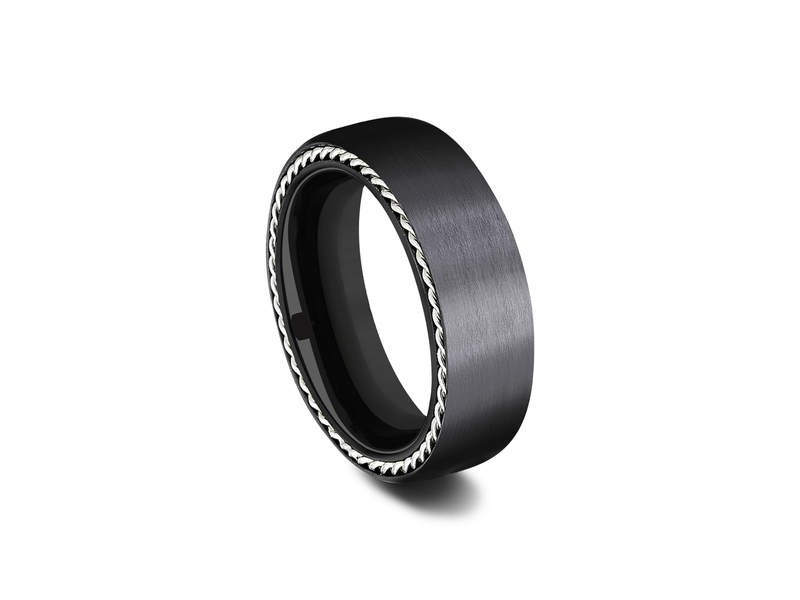 Cropped product page black titanium wedding band