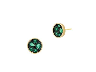 Cropped product listing midnight emerald studs