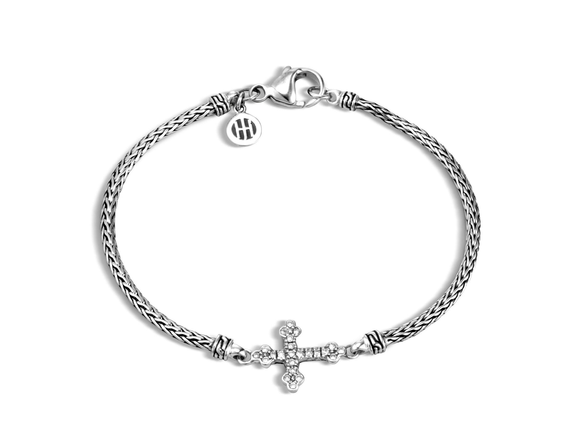 John Hardy Clic Chain Cross Station Mini Bracelet Murphy Jewelers