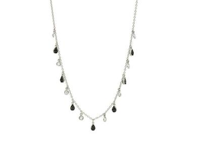 Cropped product listing pave charm necklace