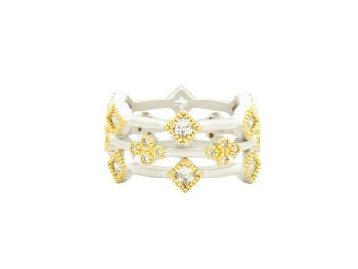 Cropped product listing armor of hoop 3 stack ring