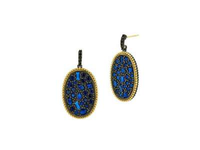 Cropped product listing midnight oval statement earring