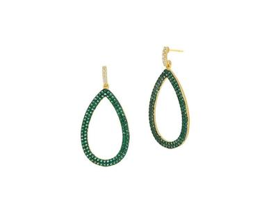 Cropped product listing midnight pave teardrop earring
