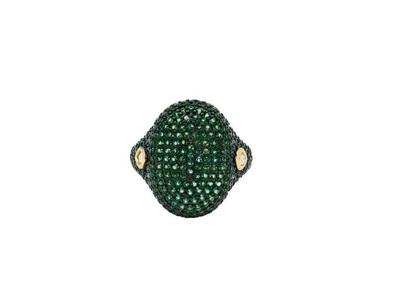 Cropped product listing midnight emerald pave cocktail ring