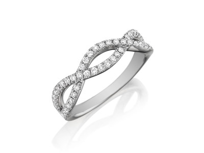 Cropped product listing diamond open twist ring