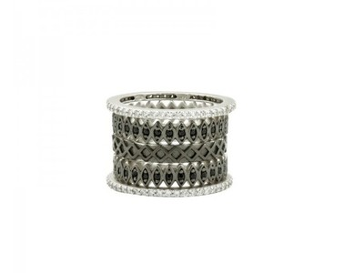 Cropped product listing two tone pave 5 stack ring