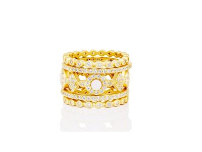 Cropped product listing signature 5 stack ring