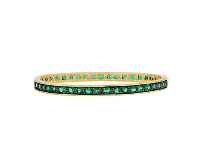 Cropped product listing midnight emerald hinge bangle