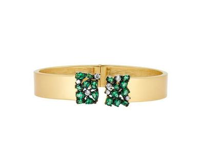 Cropped product listing midnight emerald cluster cuff