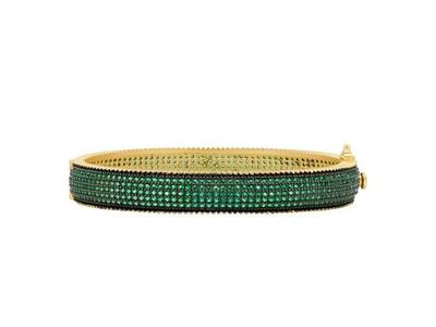 Cropped product listing midnight emerald pave bangle