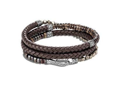 Cropped product listing leather wrap bracelet