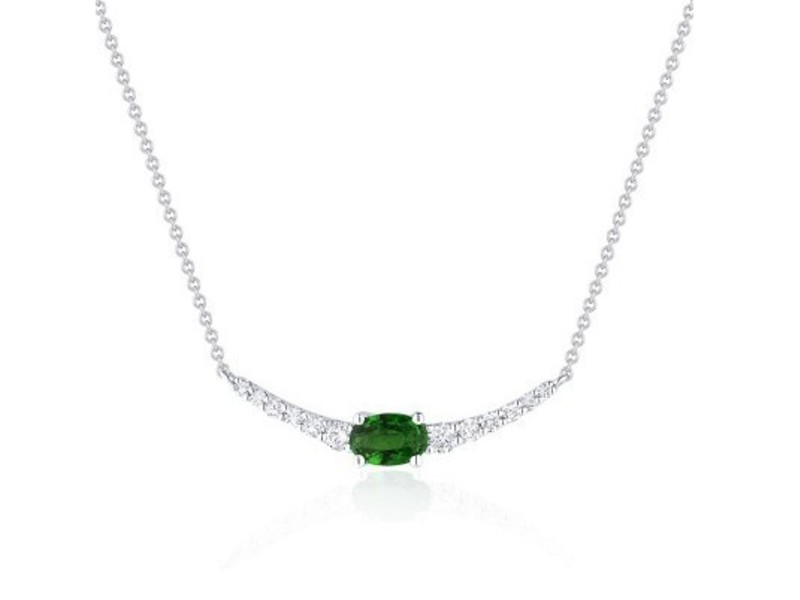 Cropped product page emerald diamond bar necklace