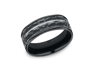 Cropped product listing cobalt black wedding band