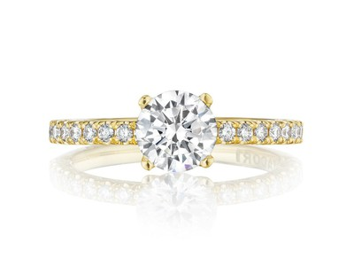 Cropped product listing gold engagement ring