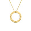 Cropped pois moi circle necklace