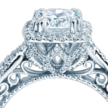 Cropped venetian engagement ring