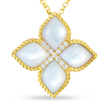 Cropped princess mother of pearl diamond necklace