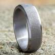 Cropped tantalum wedding band