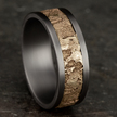 Cropped grey tantalum wedding band