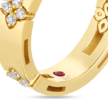 Cropped 18k narrow verona band with diamond accent